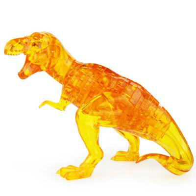 Creative 3D Dinosaur Crystal Puzzle Animal Assembled Model DIY Educational Toy