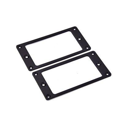 2PCS Black Humbucker Pickup Ring Curved Bottom Frame Fits LP Guitar