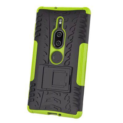Shockproof with Stand Back Cover Armor Hard PC for Sony XZ2 Premium Case