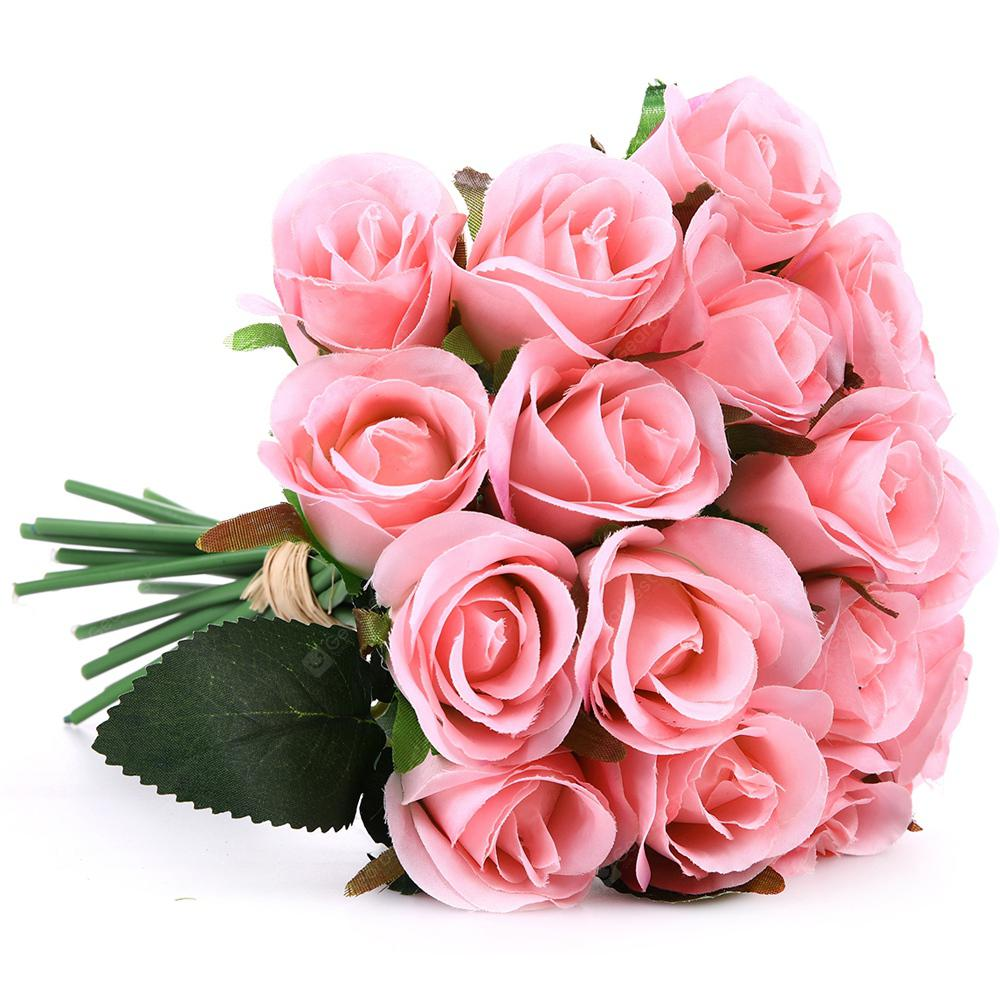 Small Rose Wedding Bouquet Home Decoration Branch of Artificial Flowers