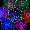 Mini Laser Stage Light LED Lighting Projector Moving DJ Party Christmas Lamp - BLACK