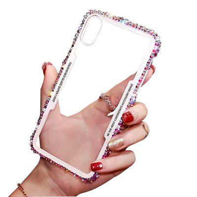 Glitter Rhinestone Case Transparent Back Cover for iPhone X