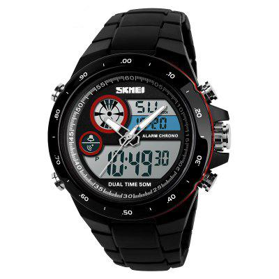 Men Movement Trend Outdoor Multi Function Dual Timing Stopwatch Electronic Watch