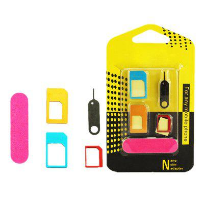 5 in 1 Nano Sim Card Adapter