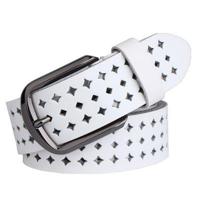 COWATHER Women Fashion Casual Leather Wild Pin Buckle Belt