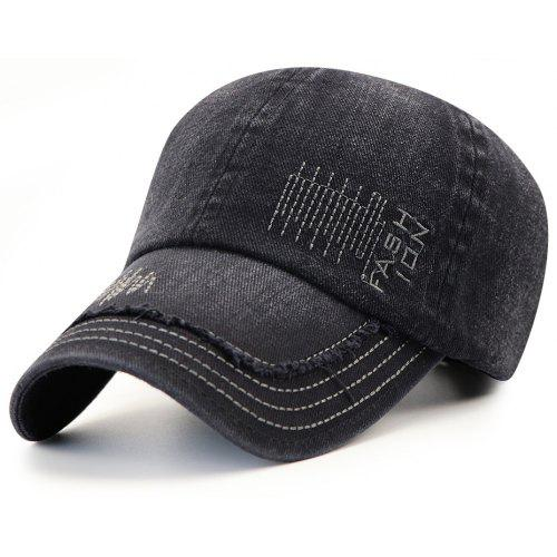 Cowboy Washed Embroidered Letters Sunscreen Cotton Outdoor Baseball Cap -   10.77 Free Shipping 01068f3ec