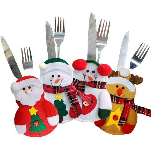 4PCS Holiday Tableware Sets Christmas Knife And Fork Bags