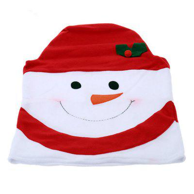 Christmas Snowman Chair Covers Home Decoration Dinner