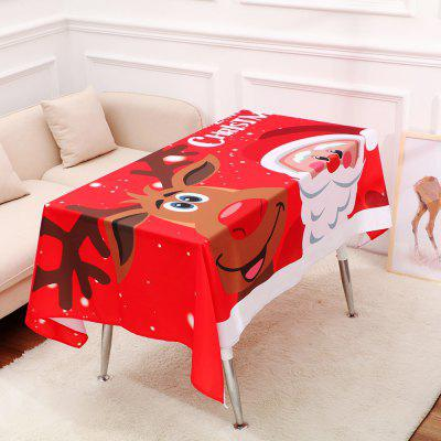 Christmas Table Cloth Cartoon Pattern Printing Home Wide Tablecloth Decorations