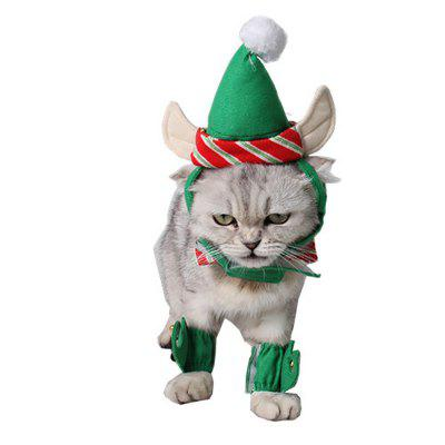 Pet Kitten Puppy Christmas Coat