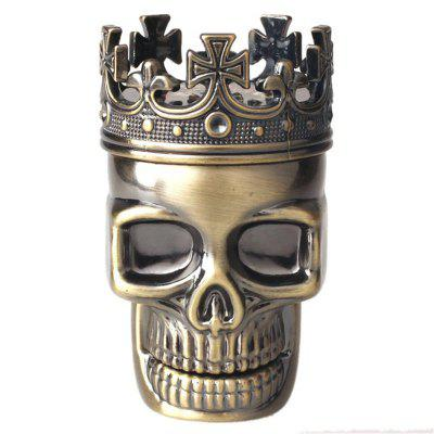 Hot King Skull Metal Tobacco Herb Spice Grinder 3 Layers Crusher Hand Muller
