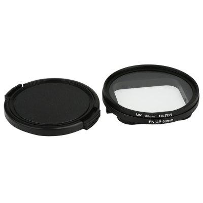 58mm UV Protection Filter for GoPro Hero 6 / 5 Water-resist Case with Lens Cover