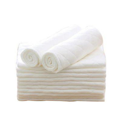 10Pcs Three Layer Eco Cotton Washable Folding Baby Diapers