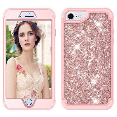 Sparkle Dual Layer Shockproof PC Back TPU Shell for iPhone 6 Phone Case