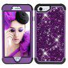 Sparkle Dual Layer Shockproof PC Back TPU Shell for iPhone 7 Phone Case - PURPLE