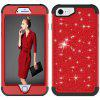 Sparkle Dual Layer Shockproof PC Back TPU Shell for iPhone 7 Phone Case - RED