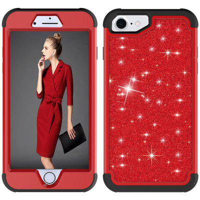 Sparkle Dual Layer PC Back TPU Shell para iPhone 8 Funda
