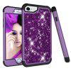 Sparkle Dual Layer Shockproof PC Back TPU Shell for iPhone 8 Phone Case - PURPLE