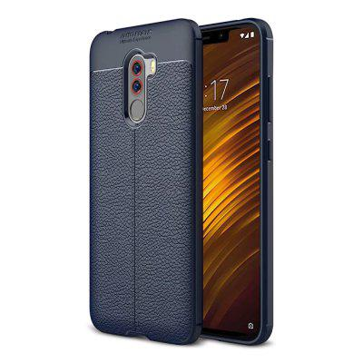Leather Texture Cover Soft Case for Xiaomi Pocophone F1
