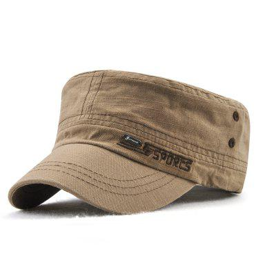 JAMONT Men and Women Embroidered Letters Sunshade Simple Wild Flat Cap
