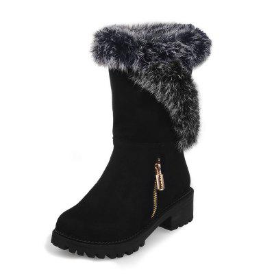 Thick Bottom Frosted Warm Comfortable Medium Tube Snow Boots
