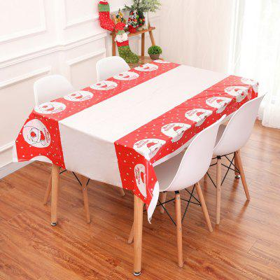 Fashion Christmas Tablecloth Disposable Printed PVC Cartoon Tablecloth