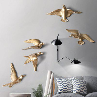 1 Sets of 5 European Creative Resin Seagull Wall Decoration