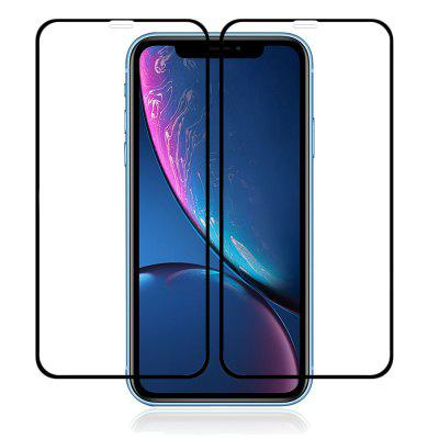 Minismile 2PCS 3D 9H Full Coverage Gehard glazen displayfolie voor iPhone XR