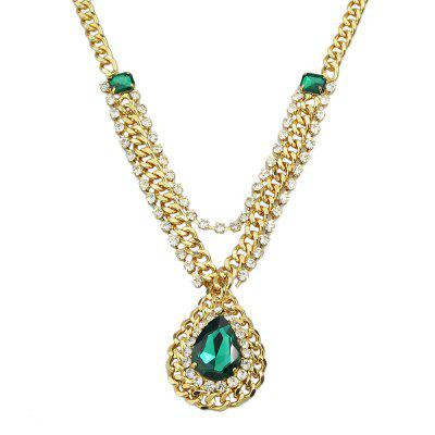 Dripping Gemstone Necklace for Women