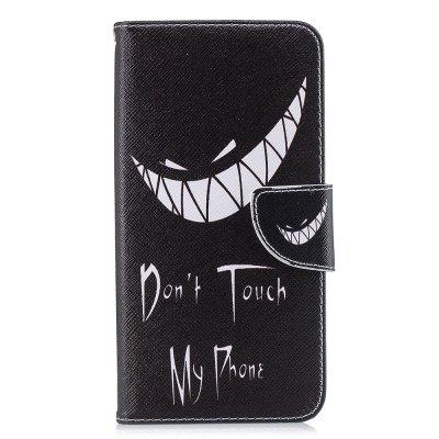Bad Smile Pattern PU Leather Wallet Case for Xiaomi Redmi Note 6 Pro