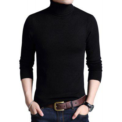 Winter Warm Turtleneck Sweaters Slim Fit Men Pullover