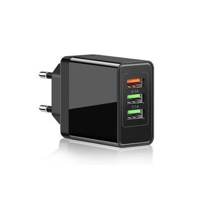 Cwxuan 18W USB 3 Port QC 3.0 Fast Quick Charge Wall Charger Adapter