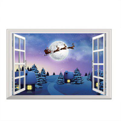 3D Christmas Removable Wall stickers DIY Sticker Paper