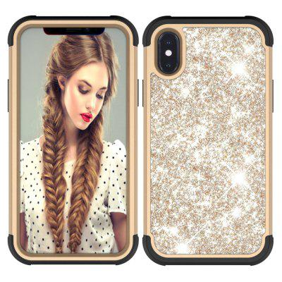 Sparkle Dual Layer Shockproof PC Back TPU Shell for iPhone X Phone Case