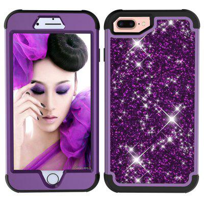Sparkle Dual Layer Shockproof PC Back TPU Shell for iPhone 6 Plus Phone Case