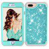 Sparkle Dual Layer Shockproof PC Back TPU Shell for iPhone 6 Plus Phone Case - BLUE ZIRCON