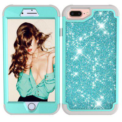 Sparkle Dual Layer Shockproof PC Zpět TPU Shell pro iPhone 7 Plus Telefon Case