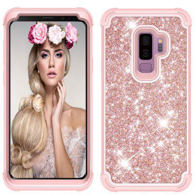 Sparkle Dual Layer Shockproof PC Înapoi TPU Shell pentru Samsung S9 Plus Case de telefon