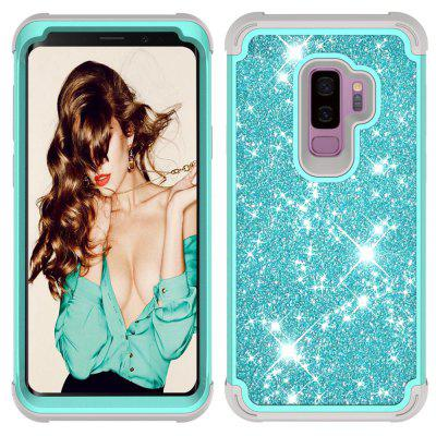 Sparkle Dual Layer Shockproof PC Back TPU Shell for  Samsung S9 plus Phone Case