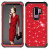 Sparkle Dual Layer PC Back a prueba de golpes TPU Shell para Samsung S9 plus Phone Case - ROJO
