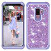 Sparkle Dual Layer Shockproof PC Back TPU Shell voor Samsung S9 plus telefoonhoes - MAUVE