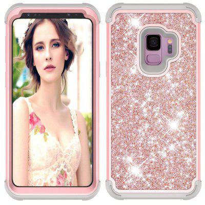 Sparkle Dual Layer Shockproof PC Back TPU Shell for Samsung S9 Phone Case