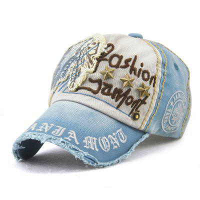 JAMONT Men and Women Rivets Casual Letters Old Outdoor Baseball Cap