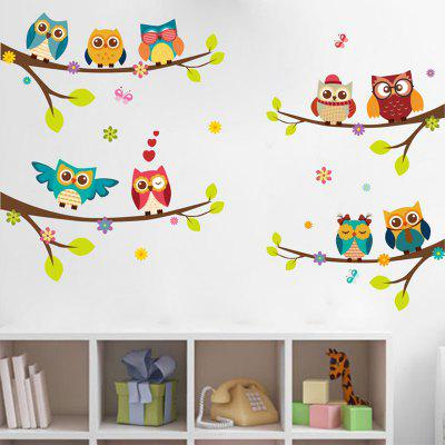Animal on Branches PVC Wall Sticker