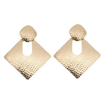 Trendy Solid Color Geometric Pendant Chic Earrings