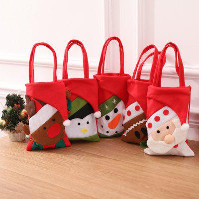 Christmas Gift Bags Animal Pattern Santa Claus Candy Bags For Xmas