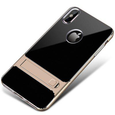 Transparent TPU PC Protective Kickstand Cover Case for iPhone XS