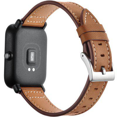 Crazy Horse Texture Genuine Leather Watch Band for Xiaomi Huami Amazfit Bip