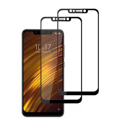 2 STKS 9 H Full Cover Gehard Glas Screen Protector voor Xiaomi Pocophone F1
