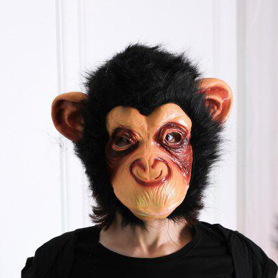 Monkey Mask Funny Animal Halloween Masquerade Party Latex Full Face